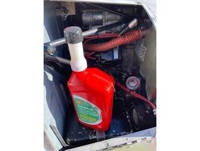 resealable oil quart extension cap engine funnel general aviation oil soda