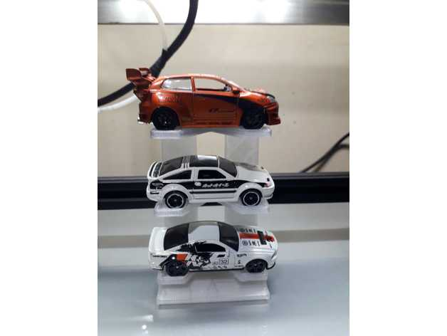 3 car hotwheels stand rac