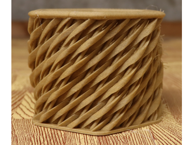 hex shaped woven basket t