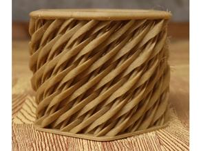 hex shaped woven basket twist basket math art openscad woven basket
