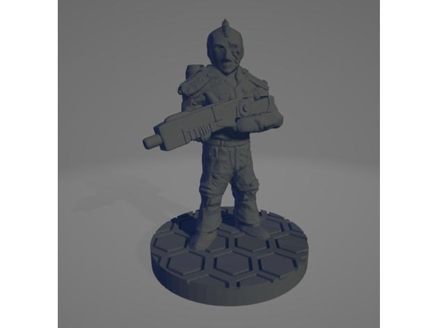 astronaut soldier mohawk
