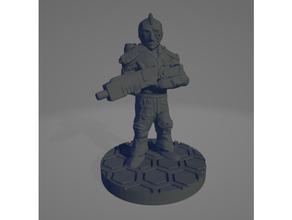 astronaut soldier mohawk 28mm 28mm 28mmscale astronaut grimdark future guard legion marine mass miniature 28mm science fiction scifi sister soldier space warhammer