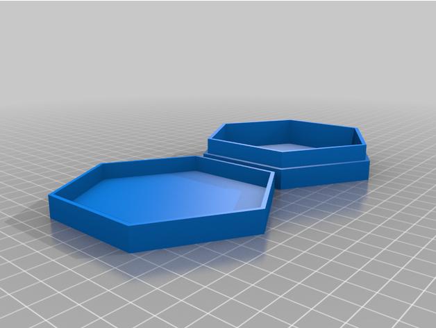 hex box lid box hexagon j