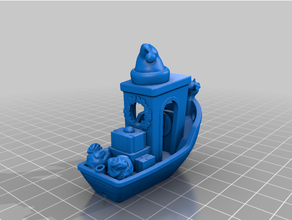 rudolph benchy 3dbenchy benchy christmas presents rudolph rudolph red-nosed