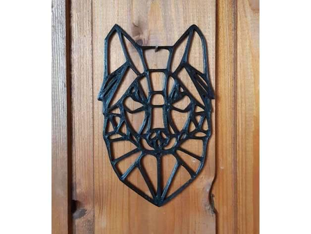 wolf animal geometric dec