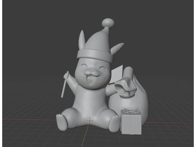 christmas pikachu anime a