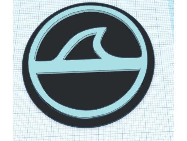 shark fin modular logo in