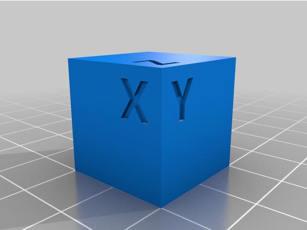 test cube 20x20x20 calibr