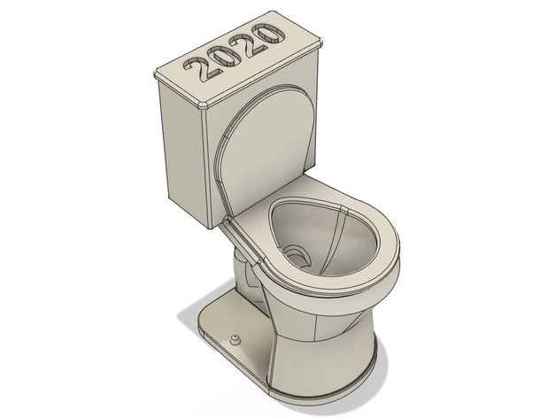 2020 toilet ornament 2020