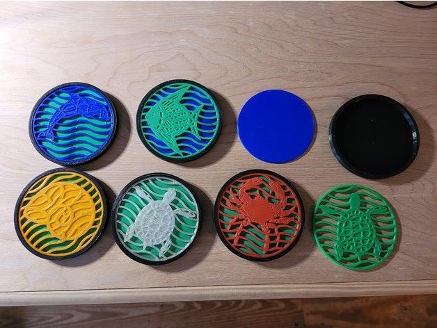 water theme coasters - mu