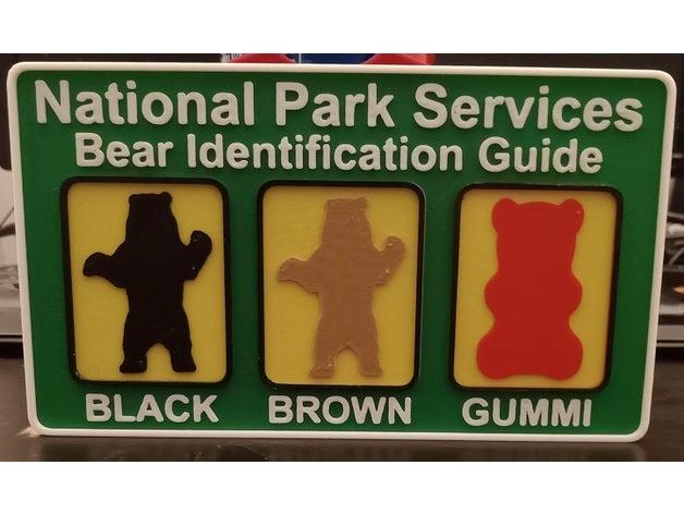 bear identification sign