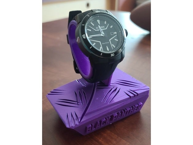 black panther watch stand
