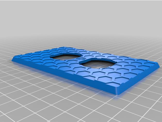 outlet cover hexagon patt