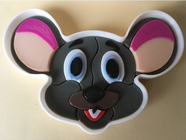 3d puzzle - mouse face 3d