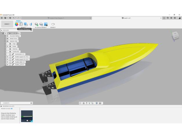 rc speed boat hull boat b