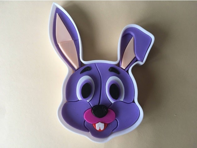 3d puzzle - rabbit face 3