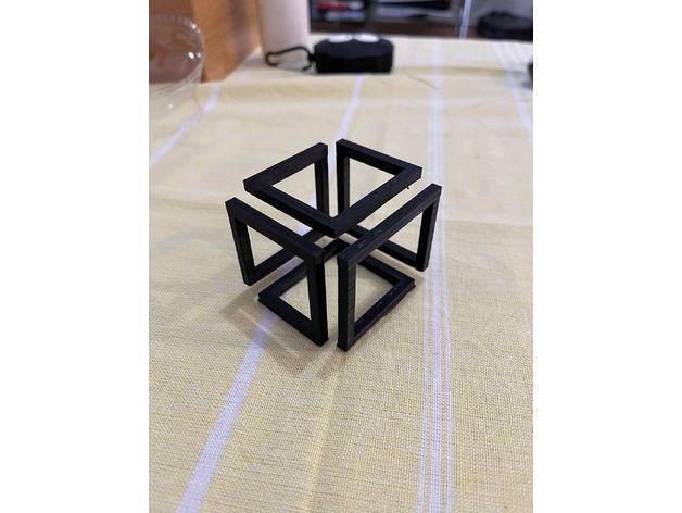 illusion cube cube illusi