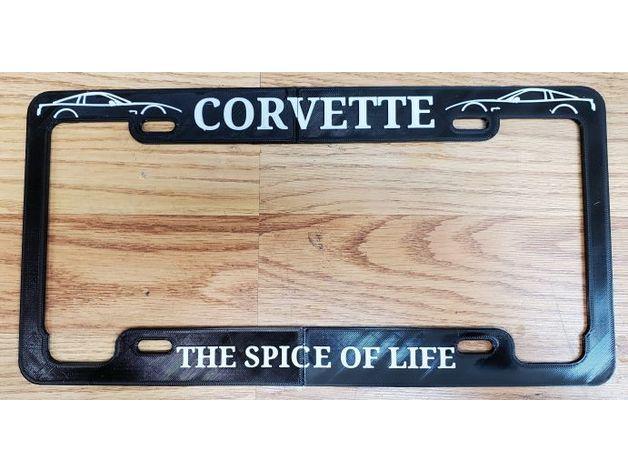 corvette license plate fr