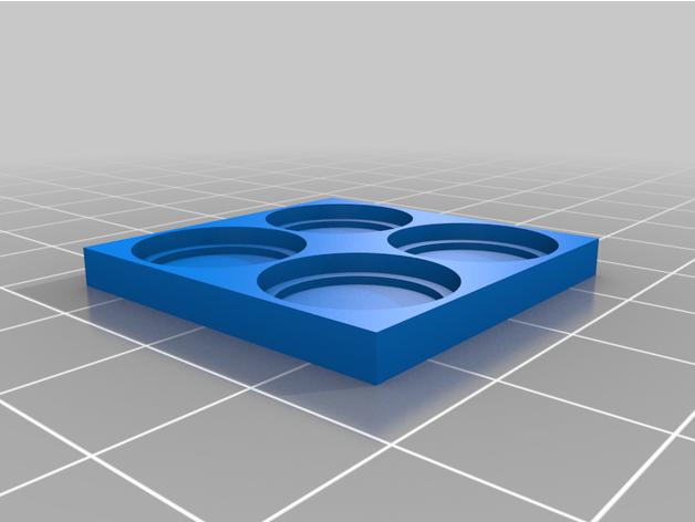 30mm square movement tray