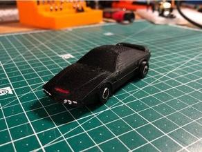 pontiac firebird kitt - matchbox car 80s black car display stand knight rider matchbox matchbox car matchbox size model toy toys tv