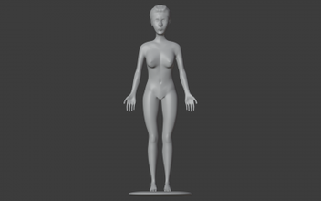 anime girl  3D printing model, 3D printing file, 3D printable model, 3D printing design, 3d print, anime,girl,woman,female,naked,sexy