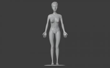 anime fille 3D impression modèle 3D impression fichier 3D imprimable modèle 3D impression conception 3d impression anime girl woman female naked sexy