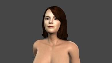 bellissimo donna rigged 3d carattere arte 3D stampa modello 3D stampa file 3D stampabile modello 3D stampa design 3d Stampa pbr personaggio scheletro truccato irreale motore