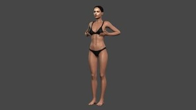 beautiful woman 10 rigged 3d character art 3D printing model, 3D printing file, 3D printable model, 3D printing design, 3d print, pbr, character, skeleton, rigged, unreal, engine, t, walk, animated, unity, man, guy, woman, person, young, body, people, pose, male