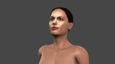 bellissimo donna 11 truccato 3d carattere arte 3D stampa modello 3D stampa file 3D stampabile modello 3D stampa design 3d Stampa pbr personaggio scheletro truccato irreale