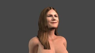 bellissimo donna 14 truccato 3d carattere arte 3D stampa modello 3D stampa file 3D stampabile modello 3D stampa design 3d Stampa pbr personaggio scheletro truccato irreale