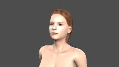 bellissimo donna 3d carattere arte 3D stampa modello 3D stampa file 3D stampabile modello 3D stampa design 3d Stampa pbr personaggio scheletro truccato irreale motore t