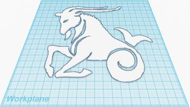 capricorn zodiac avatar file other things 3D printing model, 3D printing file, 3D printable model, 3D printing design, 3d print, Capricorn, Zodiac, Avatar, File, Horoscope, Star Sign, Sun Sign