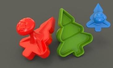 Natale biscotti taglierina ufficio giardino 3D stampa modello 3D stampa file 3D stampabile modello 3D stampa design 3d Stampa Babbo Natale Natale Natale Natale albero Abete