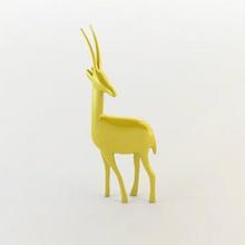 deer deco art 3D printing model, 3D printing file, 3D printable model, 3D printing design, 3d print, decorative deer, 3d art, 3d model, deer printable, 3d printing, 3d deer, animal, base, character, deer, Flappy Bird, game, layout, low, poly, sculpt, uv