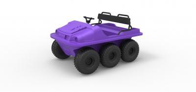 diecast argo 750 hd 6x6 scale 1 18 toys games & hobby 3D printing model, 3D printing file, 3D printable model, 3D printing design, 3d print, Argo, 750HD, Argo750HD, 6x6, vehicle, offroad, allterrain, awd, amphibious, diecast, toy, print, printable,