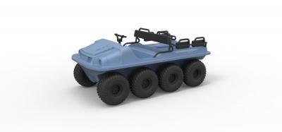 diecast argo 750 hd 8x8 scale 1 18 motors & transport 3D printing model, 3D printing file, 3D printable model, 3D printing design, 3d print, vehicle, transport, argo, 8x8, offroad, allterrain, diecast, toy, hobby