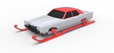 pressofuso macchina santa scala 1 25 giocattoli Giochi passatempo 3D stampa modello 3D stampa file 3D stampabile modello 3D stampa design 3d Stampa Babbo Natale macchina