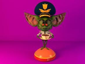 gremlin pilot 3d print model toys games & hobby 3D printing model, 3D printing file, 3D printable model, 3D printing design, 3d print, Hotel Transylvania, gremlin, gremlin airlines, monster, cartoon, comedy, figurine, character, miniatures, pilot, cartoon