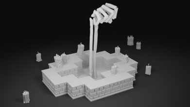el lich giriş gungeon 3d Yazdır model oyuncaklar oyunlar hobi 3D baskı model 3D baskı dosya 3D yazdırılabilir model 3D baskı tasarım 3d Yazdır kemikler