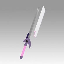magical girl lyrical nanoha signum flames maken sword toys games & hobby 3D printing model, 3D printing file, 3D printable model, 3D printing design, 3d print, magical, girl, lyrical, nanoha, signum, flames, maken ,sword ,cosplay, weapon ,prop