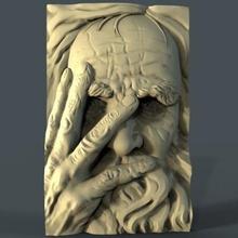 uomo sollievo arte 3D stampa modello 3D stampa file 3D stampabile modello 3D stampa design 3d Stampa vecchio uomo sollievo