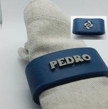 pedro napkin ring lauburu home office & garden 3D printing model, 3D printing file, 3D printable model, 3D printing design, 3d print, napkin ring, personalized, pedro, names, customizable,