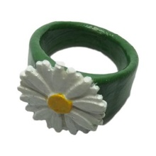 ring embossed daisy fashion 3D printing model, 3D printing file, 3D printable model, 3D printing design, 3d print, rings, flowers, embossed, daisy, daisies,