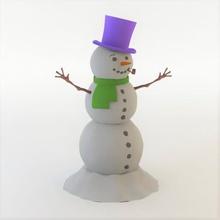 snowman art 3D printing model, 3D printing file, 3D printable model, 3D printing design, 3d print, 3d printing, 3d, 3d printable, 3d print, 3d model, 3d modeling, design, snow man, winter, snowman 3d, 3d winter, holidays, unique, special, carrot, hat, snow, ornament, christmas, christmas 3d, tree,