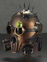 steam punk head toys games & hobby 3D printing model, 3D printing file, 3D printable model, 3D printing design, 3d print, Steam Punk Head