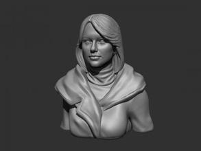 taylor swift art 3D printing model, 3D printing file, 3D printable model, 3D printing design, 3d print, Taylor Swift, girl, singer, celebrity, face, head, woman, female, bust, statue