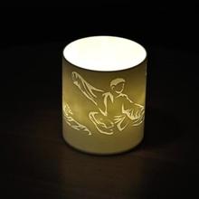 tea-light-cover tai chi chuan office & garden 3D printing model, 3D printing file, 3D printable model, 3D printing design, 3d print, Tai Chi, Tai Chi Chuan, Windlicht, Teelicht, Storm Light, Pen Beaker, Pen Cup, Cup,Tea-Light-Cover