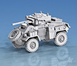 1-100 humber armoured car mk ii & mk iv & fox - wargaming3d 28mm miniature 1-100 humber armoured car mk ii & mk iv & fox
