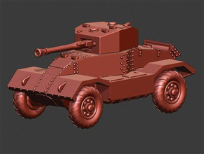 aec armoured car mkii & mkiii - wargaming3d 28mm miniature aec mkii mkiii were development earlier mki redesigned improved hull front new turret design mkii mounted 6 pounder while mkiii sported qf 75mm gun turrets provided both mkii mkiii body also provided two formats one complete other separate wheels