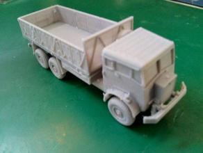 aec militant mk1 10-ton truck - wargaming3d 28mm miniature 1 100 model aec militant mk1 gs 10-ton truck used british army 1950-1990